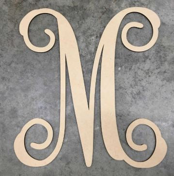 BLANK Vine Monogram Ornament, Attachment or Door Hanger