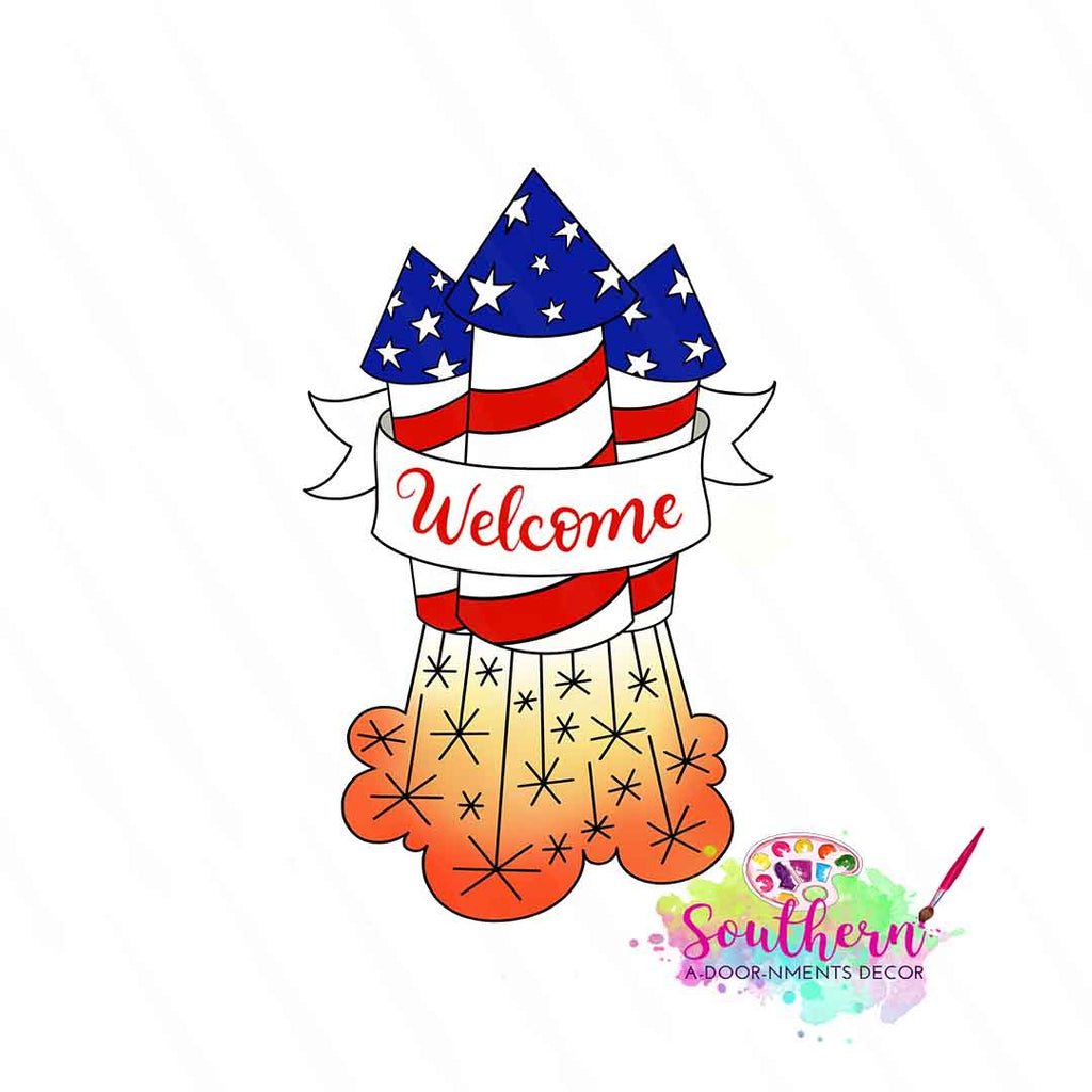 Welcome Rockets Template & Digital Cut File
