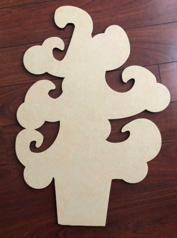 BLANK Whimsical Christmas Tree Ornament, Attachment or Door Hanger