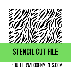 Zebra Stencil Digital Cut File