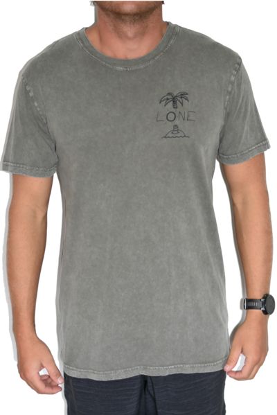 Palm Tree Stone Wash - Grey