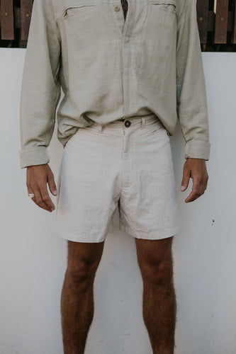 The Louis Linen Shorts in Natural