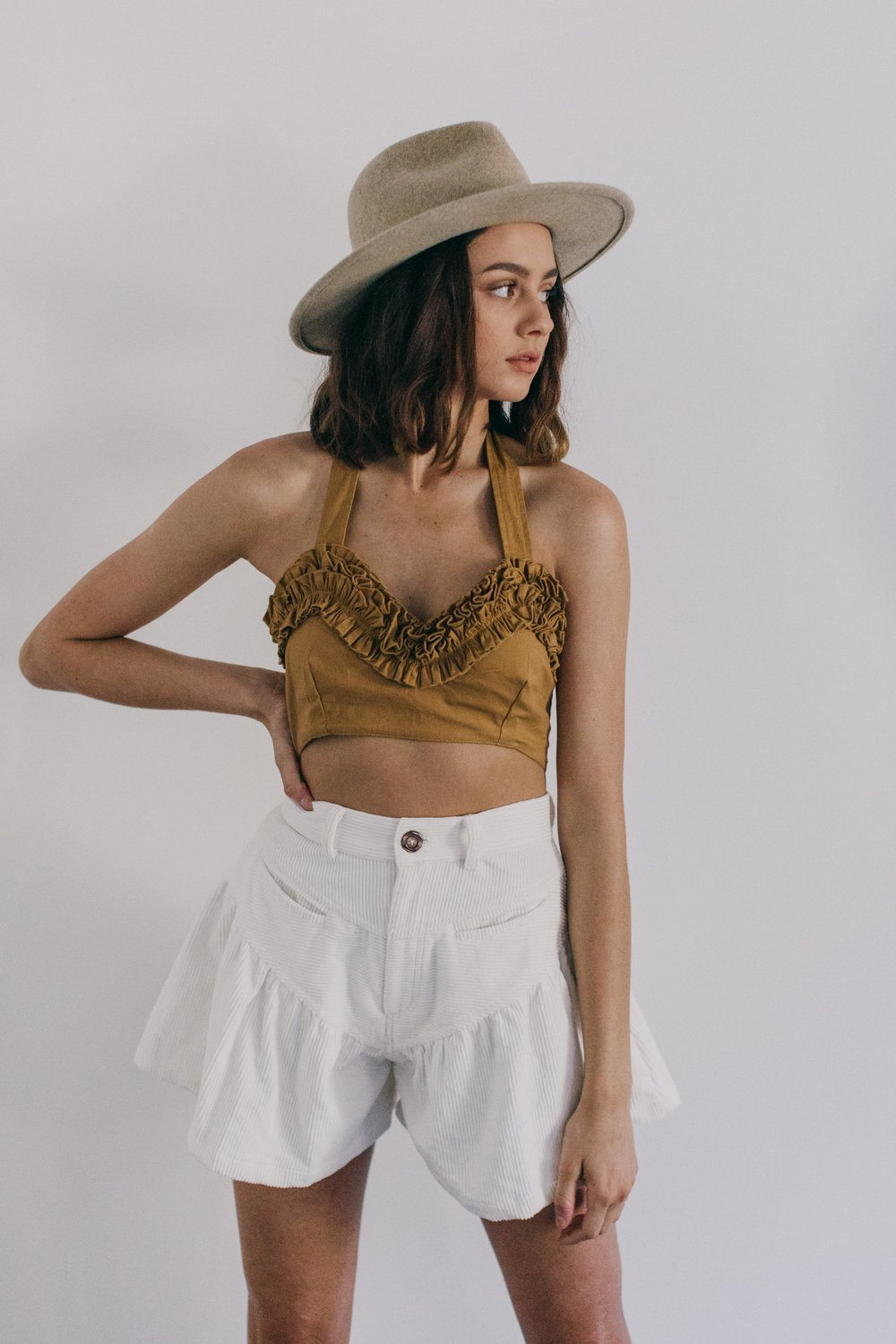 The Paloma Cord Shorts in Cream