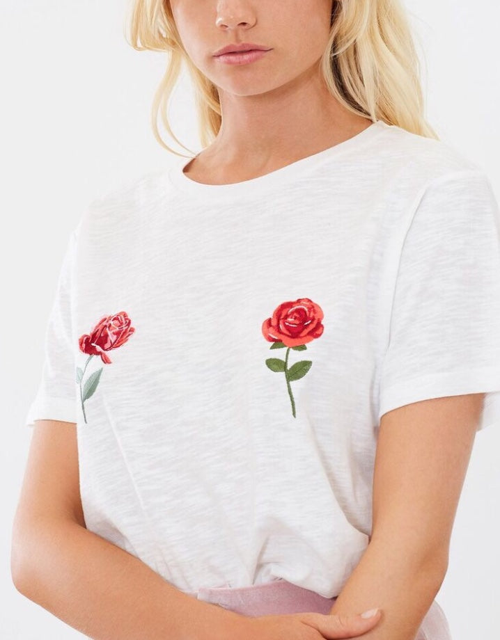 Rose By Rose - Embroidery Tee