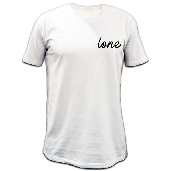 Small Cursive Tee - White