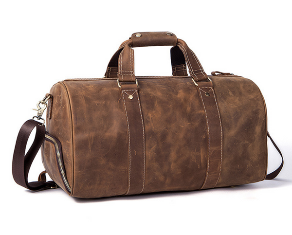 Bushman Brown Leather Duffel Bag