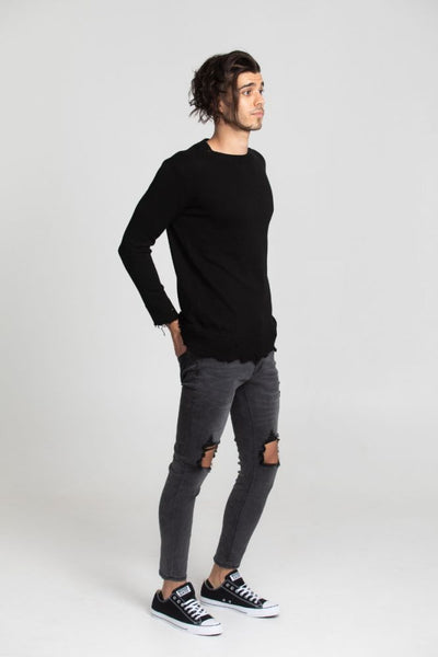 Distress Knit - Black