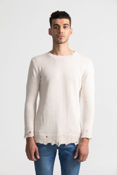 Distress Knit Beige
