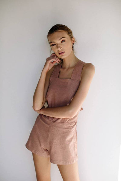 Valentina Short Playsuit - Blush