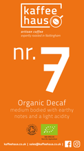 Load image into Gallery viewer, nr. 7 Organic Decaf Gift Subscription