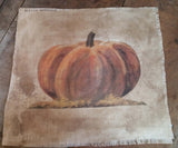 "The Great Pumpkin-Portrait or Landscape Print- Approx Print Size-  8"" wide x 10"" tall- on 14 x 16 Fabric- Fabric Counts/Prices In Drop Down"
