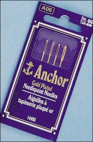 Anchor Gold Plated Cross Stitch Needles