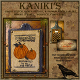 Wing Of Bat Apothecary Label- Cross Stitch Pattern Packet- PRINTED & MAILED