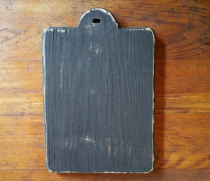 "Reclaimed Wooden Chunky ""HORNBOOK"" Finishing Boards-  For Displaying Stitching And  Crafting"