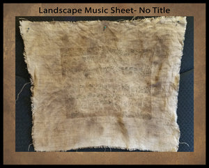 "Printed Plain Landscape Music Sheet On Linen- Approx. 8 x 10""  Print on 14"" x 16"" Fabric- Fabric Counts And Prices In Drop Down Menu"