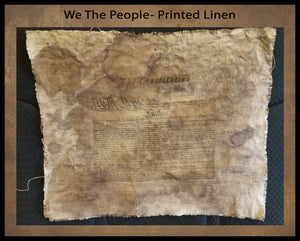 "Printed Landscape ""We The People Lettering""   Approx. 10 x 8"" Print on 15 x 13"""" Fabric- Fabric Counts/ Prices In Drop Down"