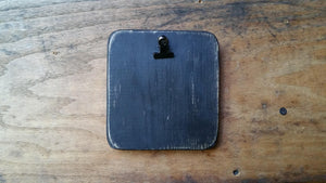 "5"" x 5"" Square- Chunky- Reclaimed Wooden Chunky Clipboard Finishing Boards-  For Displaying Stitching And Crafting"