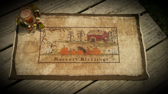 Harvest Blessings Table Runner- Cross Stitch  Original Model For My Pattern...