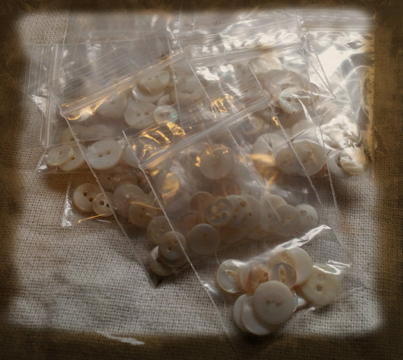 Grammy's Vintage Buttons- Pack of 12 White Hand Picked Buttons