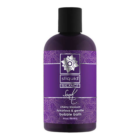 sliquid balance soak, sliquid bubble bath, bubble bath, sliquid, Glycerine free, paraben free, made in usa, vegan friendly , sliquid soak bubble bath