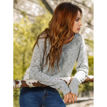 Drop Shoulder Contrast Crochet Hollow Out Sweater