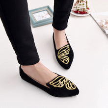 Embroidered Butterfly Flats - BlondeRambler