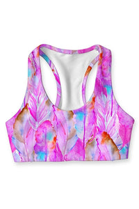 Feathered Pink Seamless Racerback - BlondeRambler
