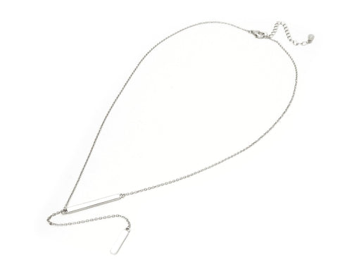 Double Bar Lariet Necklace - BlondeRambler