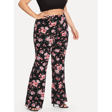 Plus Size All Over Floral Print Pants