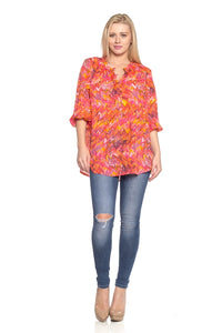 Bright Day Chiffon Blouse - BlondeRambler