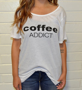 Coffee Addict Tee - BlondeRambler