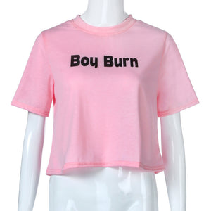 Boy Burn Crop Top