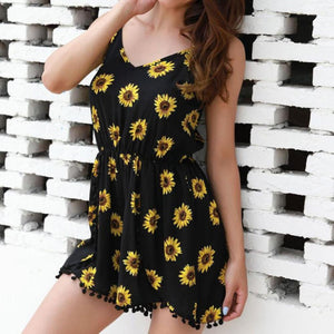 Casual Sunflower Romper