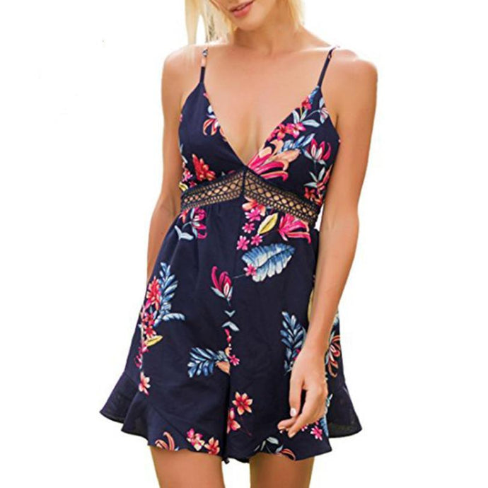 Casual Summer Floral Romper