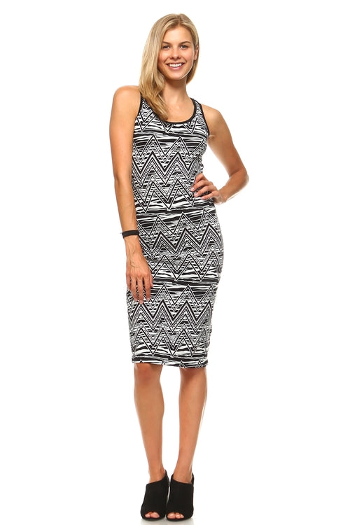 Aztec Racer Back Bodycon - BlondeRambler