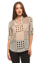 Domino Down Buttonless Blouse - BlondeRambler