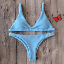 Basic Solid Color Bikini Set - BlondeRambler