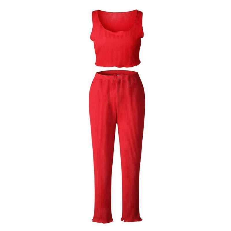Burning Red Pant Set - BlondeRambler