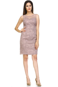 Evening Embroidered Textured Dress - BlondeRambler