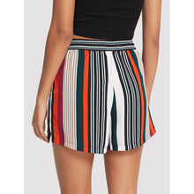 Drawstring Waist Striped Shorts