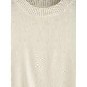 Beige Raw Panel Knitted Tank Top