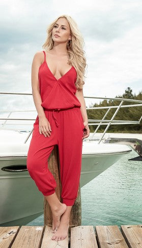 Mapale's Red loose fit Jumpsuit