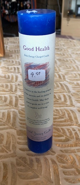 Good Health Reiki Charged Pillar Candle