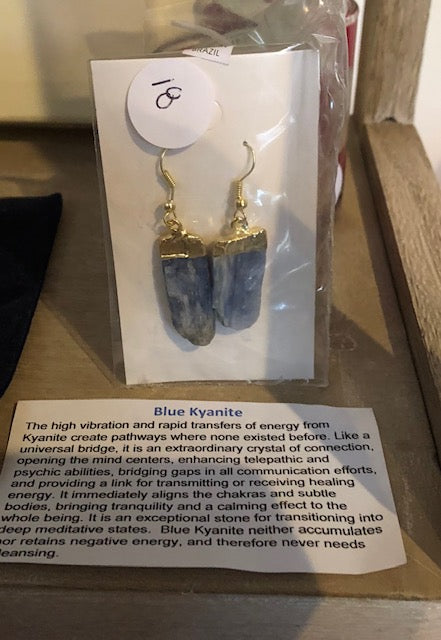Blue Kyanite Gold/Silver Plated Earrings