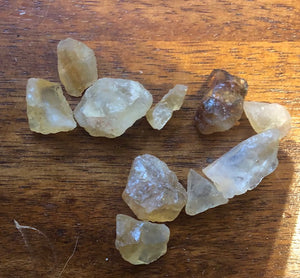 Raw Small Citrine stones- untumbled