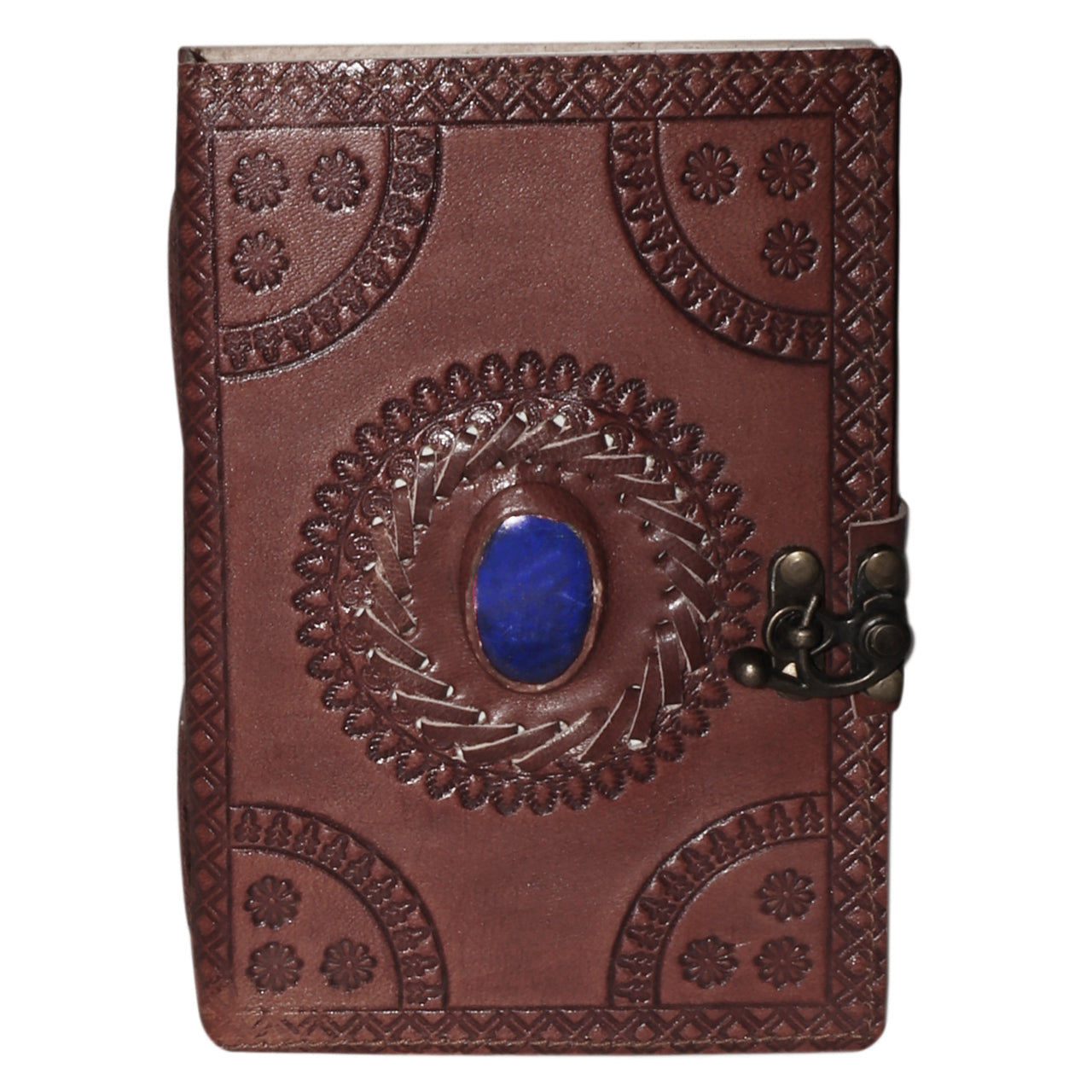 Leather Journal w/ Beautiful Stone