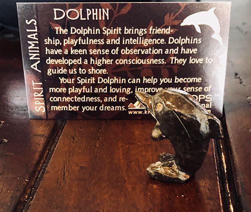 Dolomite Dolphin Spirit Animal Figurine