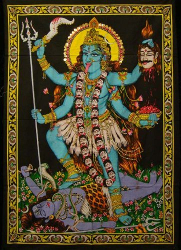 Kali Hand Painted Tapestry