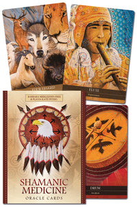 Shamanic Medicine Oracle Cards by Barbara Meiklejohn-Free, Yuri Leitch, Flavia Kate Peters