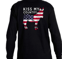 Load image into Gallery viewer, Kiss My Country Ass Long Sleeve Tee